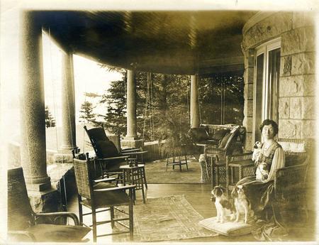 Alice Pike Barney on Porch of Ban-y-Bryn